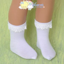"Doll Clothes Cotton Crochet Lace Short Socks White for 16"" Sasha Dolls"