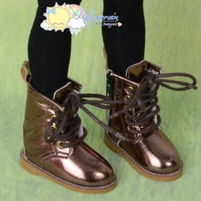 "Martin Stitch Shoes Boots Bronze for MSD BJD Dollfie Kaye Wiggs 16"" Sasha Dolls"