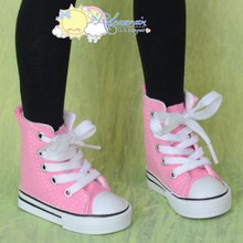 Ankle Lace-Up Cons Sneakers Shoes Boots Pink for SD Girl Dollfie BJD Dolls