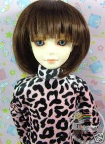 Chest Nut Bob 7-8 Wig #4088-30-2141 for MSD BJD Dollfie Ellowyne Wilde Dolls