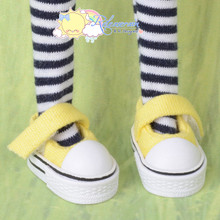 "Doll Shoes Mary Jane Sneakers Yellow for Lati Yellow Pukifee BJD 8"" Kish Riley,Riki Blythe Dolls"