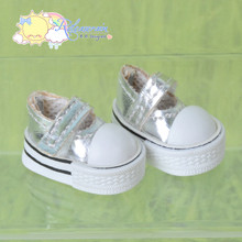 "Doll Shoes Mary Jane Sneakers Silver for Lati Yellow Pukifee BJD 8"" Kish Riley,Riki Blythe Dolls"
