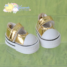 "Doll Shoes Mary Jane Sneakers Gold for Lati Yellow Pukifee BJD 8"" Kish Riley,Riki Blythe Dolls"