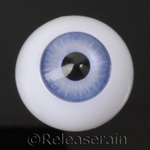 Doll Acrylic Eyes Half Round Pastel Blue #R001 20mm for BJD Dollfie, Reborn Dolls