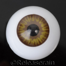 Doll Acrylic Eyes Half Round Hazel Brown Sun #R005 20mm for BJD Dollfie, Reborn Dolls