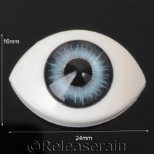 Doll Acrylic Eyes Oval Shape Sea Teal #OV06 16mmx24mm for BJD Dollfie, Reborn Dolls