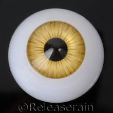 Doll Acrylic Eyes Half Round Amber Yellow #R010 20mm for BJD Dollfie, Reborn Dolls