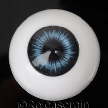 Doll Acrylic Eyes Half Round Deep Sea #R012 22mm for BJD Dollfie, Reborn Dolls