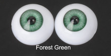 Doll Acrylic Eyes Half Round Forest Green #R009 18mm for BJD Dollfie, Reborn Dolls