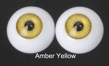 Doll Acrylic Eyes Half Round Amber Yellow #R010 18mm for BJD Dollfie, Reborn Dolls