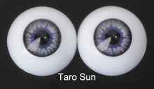 Doll Acrylic Eyes Half Round Taro Sun #R013 18mm for BJD Dollfie, Reborn Dolls