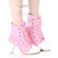 "Ankle Sneakers Heel Shoes Boots Pink for 22"" Tonner American Model Dolls"