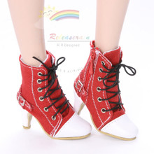 "Ankle Sneakers Heel Shoes Boots Red for 22"" Tonner American Model Dolls"