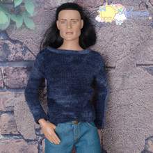 "Doll Clothes Round Neck Long Sleeves Ocean Sweater Top for 17"" Tonner Male Dolls with 17"" Matt O'Neill body Dolls"