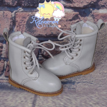 "Martin Stitch Shoes Boots Grey for MSD BJD Dollfie Kaye Wiggs 16"" Sasha Dolls"
