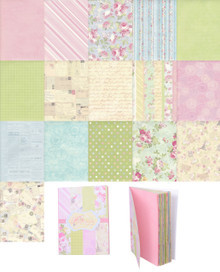 Vintage Look 16 Designs 32 Sheets Wedding Gift Scrapbooking Craft Wrapping Paper Book Style A