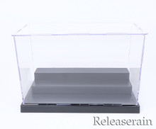"""9x5x5.7"""" Assembly Clear Acrylic Display Dustproof Protection Showcase Box 3 Steps for Miniatures Diecasts Gashapon Action Figures Dolls"""