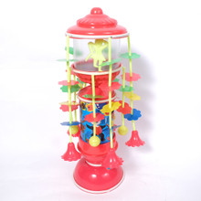 Spinning Childhood Memory Clockwork Toy Vintage Celluloid Carousel Merry Go Round Musical Collectible Rare