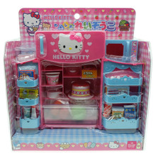 Sanrio Hello Kitty Refrigerator Microwave Foods Drinks Kitchen Girls Kids Children Role Play Toy Set Dollhouse Miniatures 1:6 and 1:8 Scale Doll Accessories Japan Exclusive