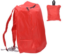 Releaserain Ultra Lightweight Handy Waterproof Red Folding Backpack Daypack Rucksack 14L Packable Foldable Portable Bag for Camping Hiking Cycling Trekking Gym Sport Outdoor Beach Shopping Carry On Travel