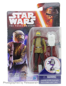 "Star Wars The Force Awakens Basic Figure 3.75"" Resistance Trooper Takara Tomy Japan"