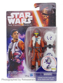 "Star Wars The Force Awakens Poe Dameron 3.75"" Basic Figure Takara Tomy Japan"