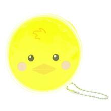 Cute Animal Duck Round Shape Plastic Coin Purse Pouch Wallet Cash Bag Ball Chain Keychain Japan Import