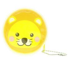 Cute Animal Lion Round Shape Plastic Coin Purse Pouch Wallet Cash Bag Ball Chain Keychain Japan Import