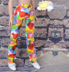 "16"" Fashion Doll Clothes Jeans Pants Rainbow Bubble Dots Denim for Tonner Tyler Ellowyne Wilde"