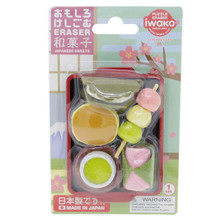 Iwako Eraser Japanese Sweets Mochi Dorayaki Green Tea Dessert Miniatures Set Japan Import Made in Japan