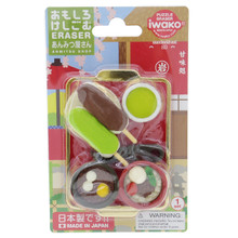 Iwako Eraser Japanese Dessert Shop Anmitsu Mochi Dango Green Tea Miniatures Set Japan Import Made in Japan