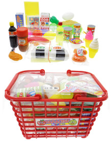 Lucky Toy Paradise Series Pretend Play Japanese Grocery Food Kitchen Play House Toys with Red Shopping Basket Playset Assortment Set for Kids Japan Import Made in Japan