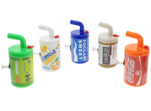 CanCan Pistol Japanese Can Drink Designs Water Squirt Gun Pistol Set of 5 Pieces Japan Import