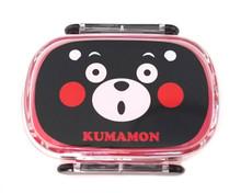 Kumamon Bear Mon Oval 2-Point Lock Leak-Proof Bento Lunch Box 300ml Japan Import