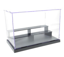 "10x6x7"" Assembly Clear Acrylic Display Dustproof Protection Showcase Box 3-Step"