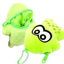 Sun Art Japan Nintendo Splatoon Green Squid Die-Cut Plush Doll Coin Purse SPT-13