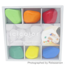 Aozora icicolor Art Drawing Stone Crayons Ishikororu 6 Colors Set Made in Japan