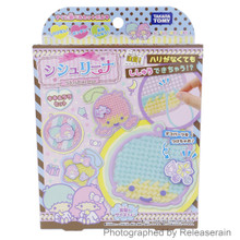 Takara Tomy Sanrio Little Twin Stars Shishurina DIY Hobby Kit No Needle Embroidery Craft Toy Full Set Japan Import