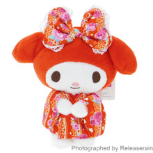 Sanrio Nakajima Kawaii Japan My Melody Red Kimono Mascot Plush Doll Small Size