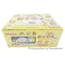 Tanseido Sanrio Gudetama Lazy Egg Chocolate 80pcs Snack Dagashi Made in Japan