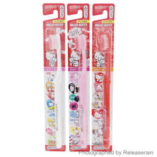 Ebisu Sanrio Hello Kitty 40th Anniversary Medium Toothbrush 3 Pieces Made in Japan