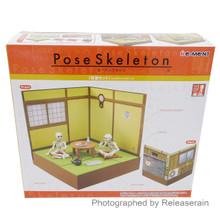 Re-Ment Dollhouse Miniatures Pose Skeleton 1/18 Japanese Room Set Japan Import