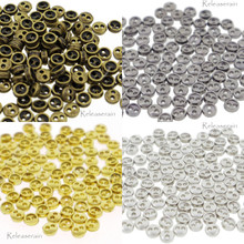 3mm Round Doll Clothes Sewing Sew On Plated Metal Miniature Buttons with Rim 60 Pieces