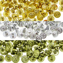5mm Doll Clothes Sewing Sew On Round Shank Brazer Anchor Plated Metal Buttons 20 Pieces