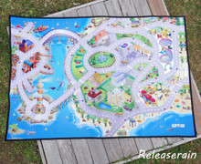 Non-Woven Polyester Felt Area Rug Carpet Children Room Floor Mat House of Kids City Along the Sea