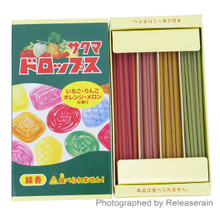 Kameyama Sakuma Drops Japanese Fruit-Flavored Hard Candy Fragrance Mini Incense Sticks 40g (10g x 4 types) Made in Japan