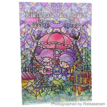 Asunarosya Sanrio Kobe Limited Edition Little Twin Stars Kiki & Lala in Kobe A4 Clear File Folder Made in Japan