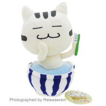 Sugitom Jamma FooCat Hotspring Spa Bathing Cat Toothbrush Anime Plush Doll Japan Import