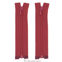 "4"" Tiny Separating DIY Doll Clothes Jacket Nylon Coil Size #0 Open End Sewing Zippers Burgundy Set of 2 Pieces"