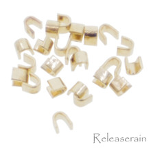 20pcs Gold Metal Top Stop Staple For Tiny Size #0 Metal/Brass Doll Clothes Sewing Zippers